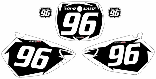 1996-1999 Yamaha YZ250 Custom Black Pre-Printed Background - White Shock Series by Factory Ride