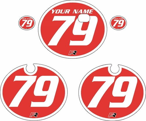 1979 Kawasaki KX250 Red Pre-Printed Backgrounds - White Bold Pinstripe by FactoryRide