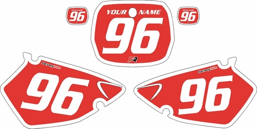 1996-1999 Yamaha YZ250 Custom Pre-Printed Background Red - White Bold Pinstripe by Factory Ride