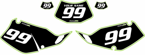 1994-1996 Kawasaki KLX250 Black Pre-Printed Backgrounds - Green Pro Pinstripe by FactoryRide