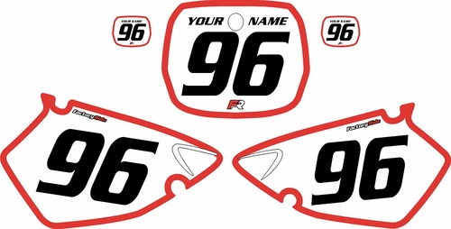 1996-1999 Yamaha YZ250 Custom Pre-Printed Background White - Red Bold Pinstripe by Factory Ride