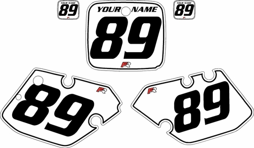 1989-1990 Yamaha YZ125 Custom Pre-Printed White Background - Black Pinstripe by Factory Ride