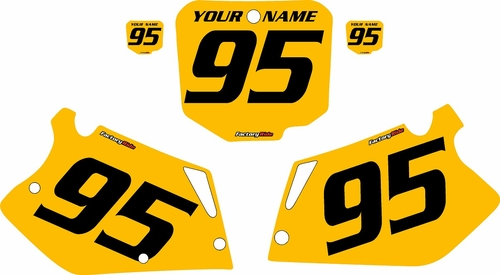 1995-1997 Honda CR125 Pre-Printed Backgrounds Yellow - Black Numbers by FactoryRide