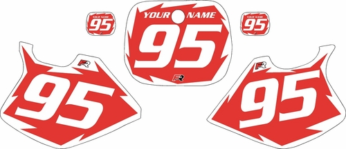 1993-1995 Yamaha YZ125 Custom Pre-Printed Red Background - White Shock Series by Factory Ride