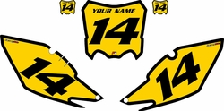 2013-2016 Honda CRF450 R Pre-Printed Backgrounds Yellow - Black Bold Pinstripe by FactoryRide