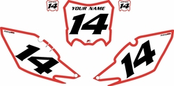 2013-2016 Honda CRF450 R Pre-Printed Backgrounds White - Red Bold Pinstripe by Factory Ride