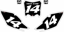 2013-2016 Honda CRF450 R Black Pre-Printed Backgrounds - White Bold Pinstripe by Factory Ride