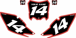 2013-2016 Honda CRF450 R Pre-Printed Backgrounds Black - Red Bold Pinstripe by Factory Ride