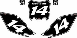 2013-2016 Honda CRF450 R Black Pre-Printed Backgrounds - White Pinstripe by Factory Ride
