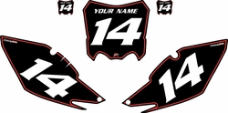 2013-2016 Honda CRF450 R Pre-Printed Backgrounds Black - Red Pinstripe by Factory Ride