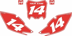 2013-2016 Honda CRF450 R Pre-Printed Backgrounds Red - White Pinstripe by Factory Ride