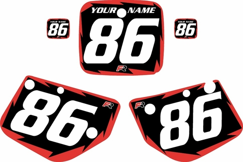 1986-1988 Yamaha YZ125 Custom Pre-Printed Black Background - Red Shock Series by Factory Ride