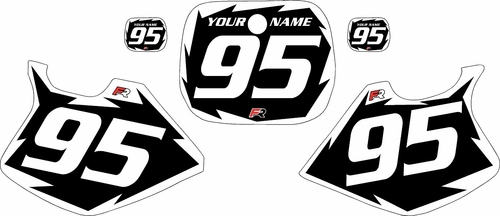 1993-1995-Yamaha-YZ125 Custom Black Pre-Printed Background - White Shock Series by Factory Ride