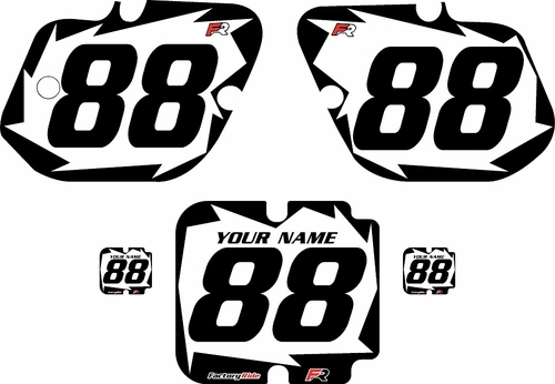 1987 Kawasaki KX125 Custom Pre-Printed Background White - Black Shock by Factory Ride