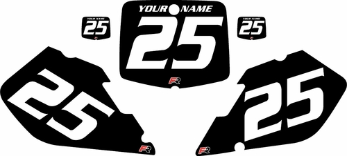 1999-2000 Suzuki RM250 Black Pre-Printed Background - White Numbers by FactoryRide