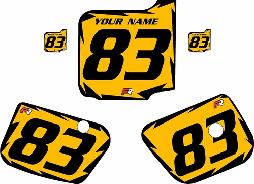 1983 Husqvarna CR125 Custom Pre-Printed Background Yellow - Black Shock Series by Factory Ride