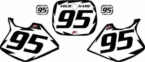 1993-1995-Yamaha-YZ125 Custom White Pre-Printed Background - Black Shock Series by Factory Ride