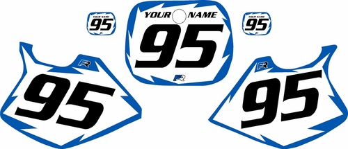 1993-1995 Yamaha YZ125 Custom Pre-Printed White Background - Blue Shock Series by Factory Ride