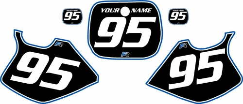 1993-1995 Yamaha YZ125 Custom Pre-Printed Background Black - Blue Pro Pinstripe by Factory Ride