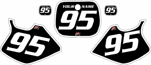 1993-1995-Yamaha-YZ125 Custom Black Pre-Printed Background - White Bold Pinstripe by Factory Ride
