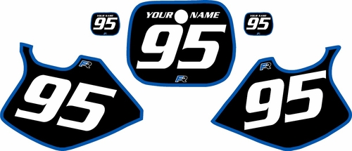 1993-1995 Yamaha YZ125 Custom Pre-Printed Black Background - Blue Bold Pinstripe by Factory Ride