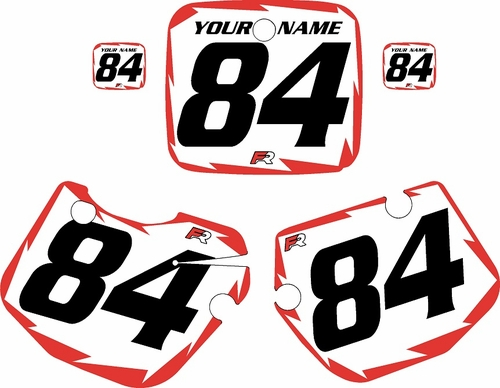 1984-1985 Yamaha YZ250 Custom Pre-Printed White Background - Red Shock Series by Factory Ride