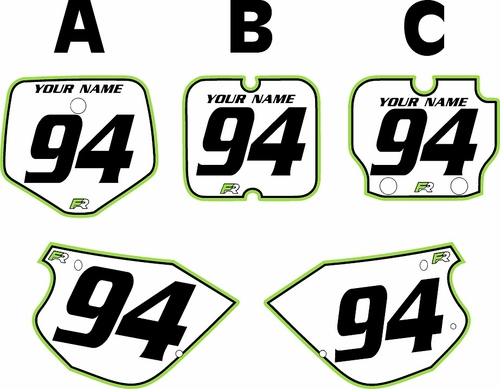 1991-1997 Kawasaki KX 80 Custom Pre-Printed Background White - Green Pro Pinstripe by Factory Ride