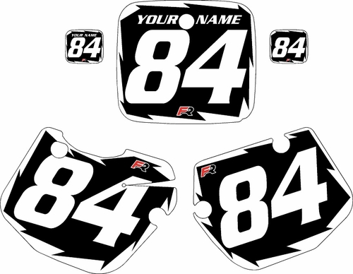 1984-1985 Yamaha YZ250 Custom Pre-Printed Black Background - White Shock Series by Factory Ride