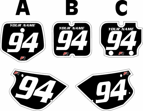 1991-1997 Kawasaki KX 80 Black Pre-Printed Backgrounds - White Bold Pinstripe by FactoryRide