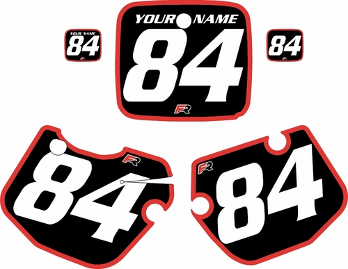1984-1985 Yamaha YZ250 Custom Pre-Printed Black Background - Red Bold Pinstripe by Factory Ride