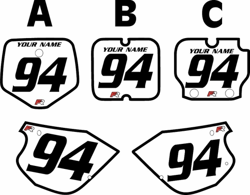 1991-1997 Kawasaki KX 80 White Pre-Printed Backgrounds - Black Bold Pinstripe by FactoryRide