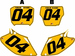 2002-2004 Honda CRF450 R Pre-Printed Backgrounds Yellow - Black Pinstripe by FactoryRide