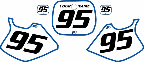 1993-1995 Yamaha YZ125 Custom Pre-Printed White Background - Blue Bold Pinstripe by Factory Ride