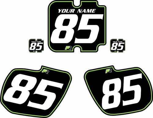 1985-1986 Kawasaki KX500 Custom Pre-Printed Background Black - Green Pinstripe by Factory Ride
