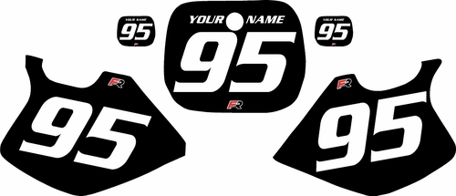 1993-1995-Yamaha-YZ125 Custom Black Pre-Printed Background - White Numbers by Factory Ride