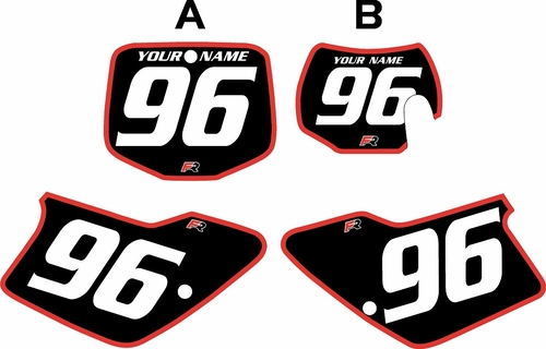 1996-2001 GAS GAS EC125 Custom Pre-Printed Background Black - Red Bold Pinstripe by Factory Ride