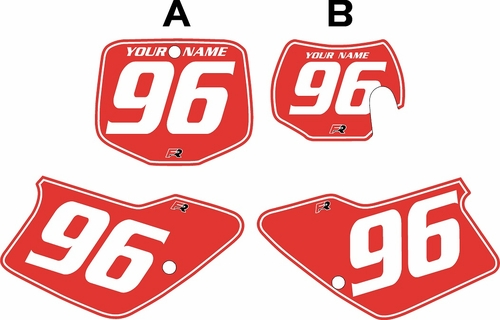 1998-1999 GAS GAS MC250 Custom Pre-Printed Background Red - White Pinstripe by Factory Ride