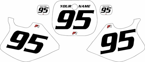 1993-1995-Yamaha-YZ125 Custom White Pre-Printed Background - Black Numbers by Factory Ride