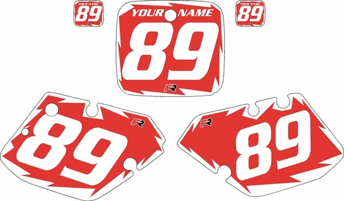 1989-1990 Yamaha YZ125 Custom Pre-Printed Red Background - White Shock Series by Factory Ride