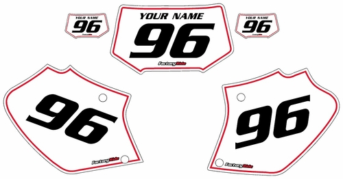 1996-2004 Honda XR250 Custom White Pre-Printed Background - Red Pinstripe by Factory Ride