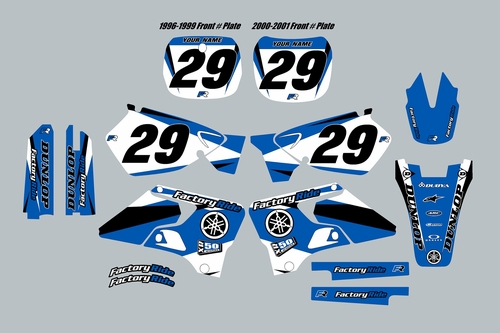 1996-2001 Yamaha YZ125 YZ250 Full Complete Graphics Kit - Racer 1