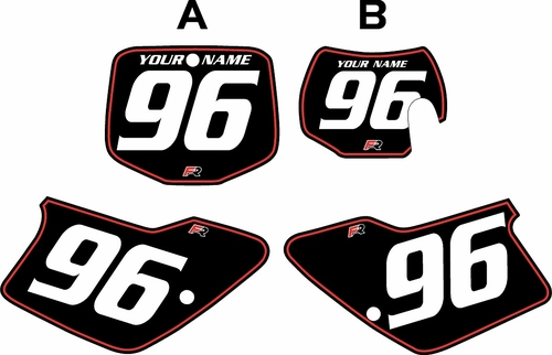 1998-1999 GAS GAS MC250 Custom Pre-Printed Background Black - Red Pinstripe by Factory Ride