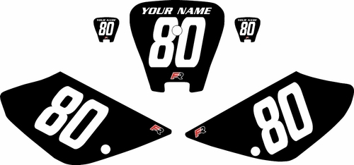 2001-2003 Honda XR100 Pre-Printed Backgrounds Black - White Numbers by FactoryRide