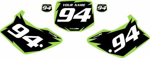 1994-1998 Kawasaki KX250 Pre-Printed Backgrounds Black - Green Shock Series by FactoryRide