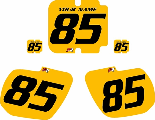 1985 Kawasaki KX125 Custom Pre-Printed Yellow Background - Black Numbers by Factory Ride