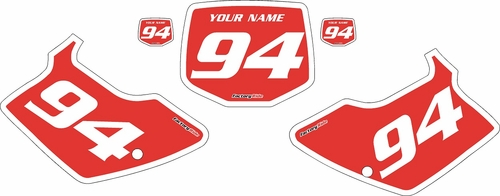 1994-1998 Kawasaki KX250 Custom Pre-Printed Red Background - White Bold Pinstripe by Factory Ride