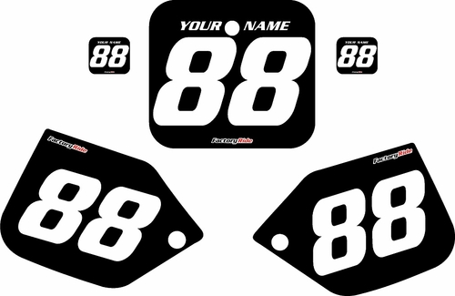1987-1988 Honda CR500 Pre-Printed Backgrounds Black - White Numbers by FactoryRide