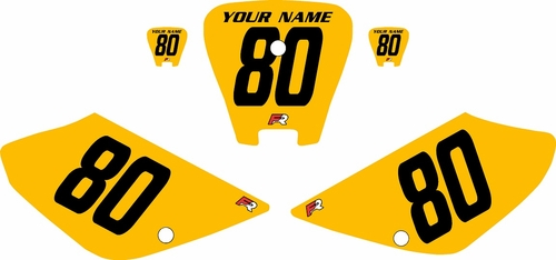 2001-2003 Honda XR100 Pre-Printed Backgrounds Yellow - Black Numbers by FactoryRide