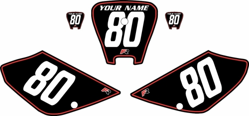 2001-2003 Honda XR100 Pre-Printed Backgrounds Black - Red Pinstripe by FactoryRide