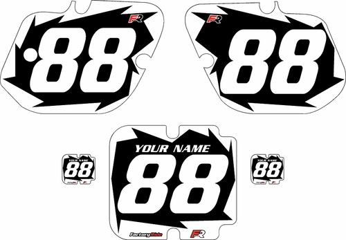 1987 Kawasaki KX500 Custom Pre-Printed Background Black - White Shock by Factory Ride